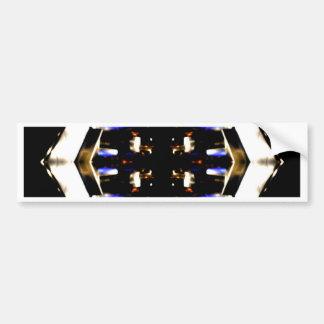 NYC Landmarks Purple Light Groove Futurism Bumper Sticker