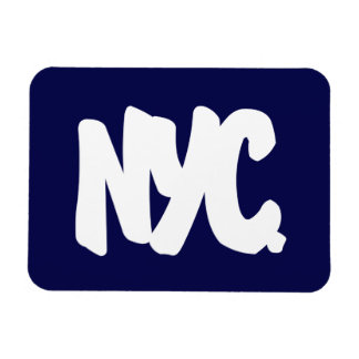 NYC Letters Rectangular Photo Magnet