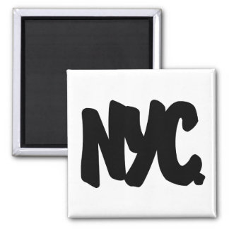 NYC Letters Square Magnet