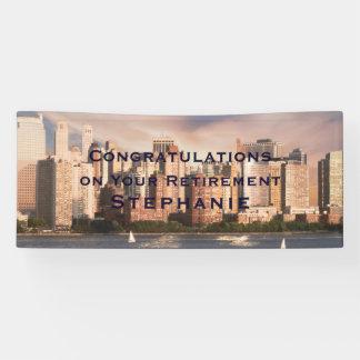 NYC Lower Manhattan Skyline BIG Retirement Banner