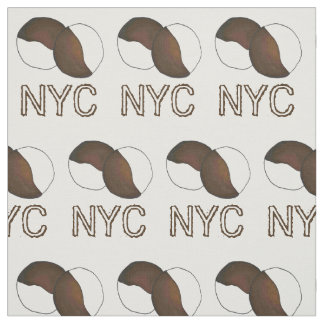 NYC New York City Black and White Cookie Cookies Fabric