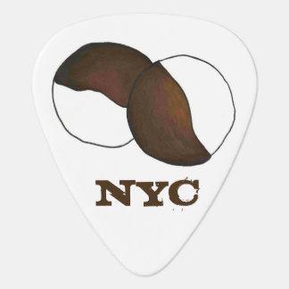 NYC New York City Black and White Cookie Cookies Plectrum