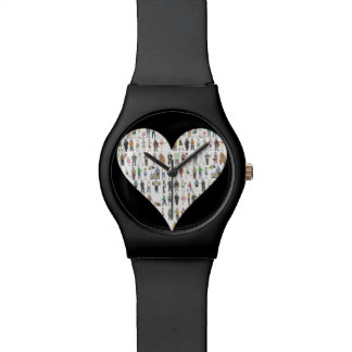 NYC New York City Black Heart Watch