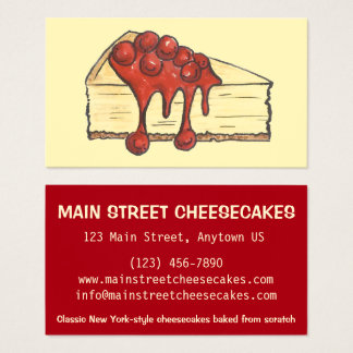 NYC New York City Cheesecake Bakery Baked By Food Business Card