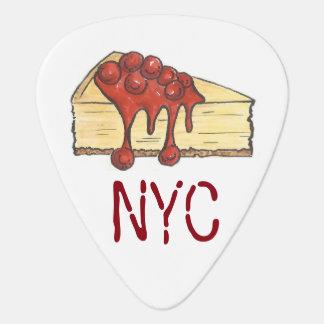 NYC New York City Cherry Cheesecake Foodie Gift Guitar Pick
