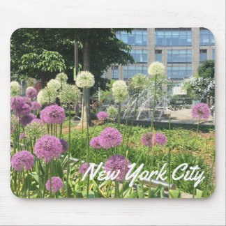 NYC New York City Columbus Circle Allium Fountain Mouse Pad