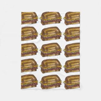 NYC New York City Deli Reuben Sandwich Blanket
