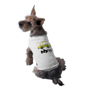 NYC New York City Dog Yellow Checker Taxi Cab Shirt