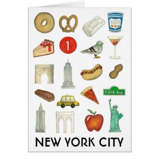 NYC New York City Icons Landmarks Foods Buildings Card