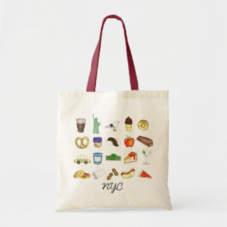 NYC New York City Landmarks Tourist Tote