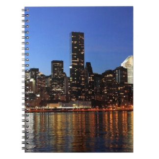 NYC New York City Manhattan Night Spiral Notebook
