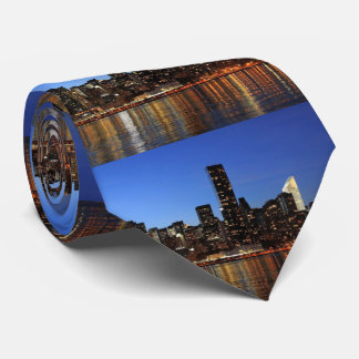 NYC New York City Manhattan Night Tie