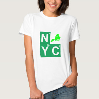NYC New York City map T-shirts
