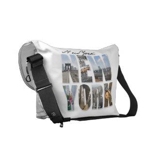 NYC New York City Montage Messenger Bag