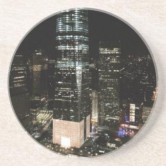 NYC New York City Night Skyline Architecture Light Coaster