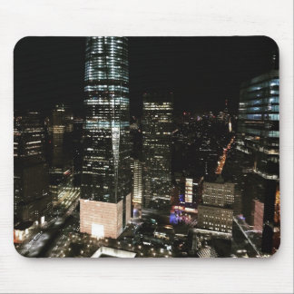 NYC New York City Night Skyline Architecture Light Mouse Pad