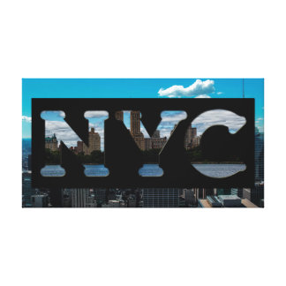 NYC New York City Photography Lettering Canvas Print