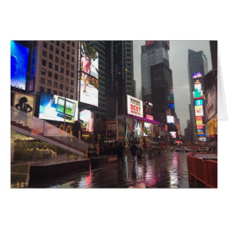 NYC New York City Rainy Day Times Square Photo Card