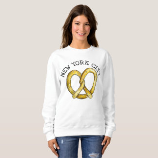 NYC New York City Salty Soft Pretzel Foodie Sweatshirt