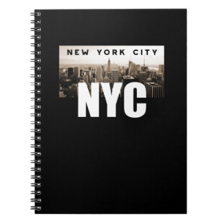NYC New York City. Skyline. America, USA Notebooks