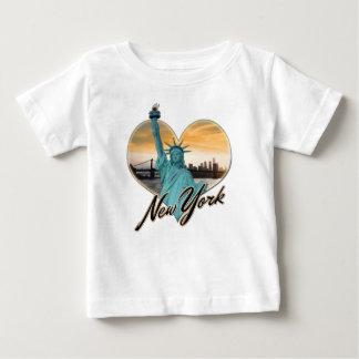 NYC New York City Skyline Souvenir Lady Liberty Baby T-Shirt