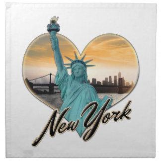 NYC New York City Skyline Souvenir Lady Liberty Napkin