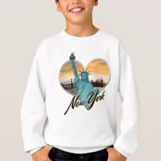 NYC New York City Skyline Souvenir Lady Liberty Sweatshirt