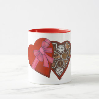 NYC New York City Valentine Box of Chocolates Mug