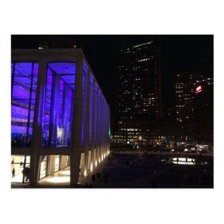 NYC New York Night Lincoln Centre Photo Postcard