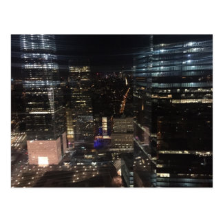 NYC New York Night Lower Manhattan Lights Postcard