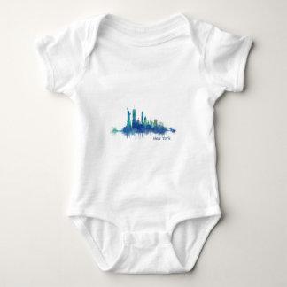 NYC New York Skyline v5 Baby Bodysuit