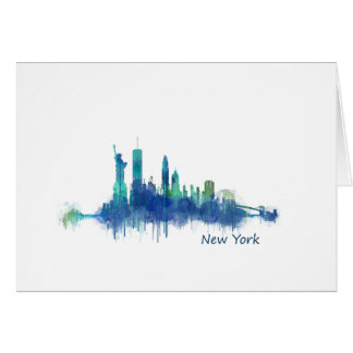NYC New York Skyline v5 Card