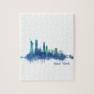 NYC New York Skyline v5 Jigsaw Puzzle