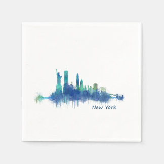 NYC New York Skyline v5 Paper Napkin
