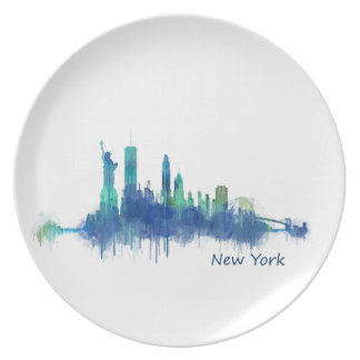 NYC New York Skyline v5 Plate