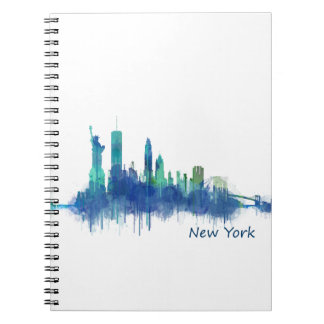 NYC New York Skyline v5 Spiral Notebook