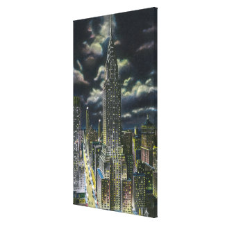 NYC New YorkChrysler Building at Night 1 Gallery Wrapped Canvas