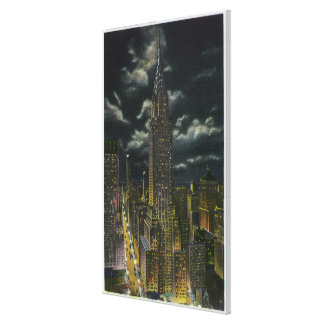 NYC New YorkChrysler Building at Night 2 Canvas Print