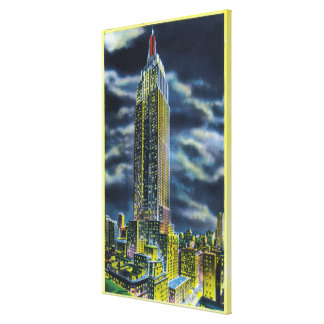 NYC, New YorkEmpire State Building at Night Gallery Wrap Canvas