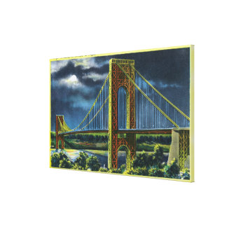 NYC, New YorkGeorge Washington Bridge at Night 2 Gallery Wrap Canvas