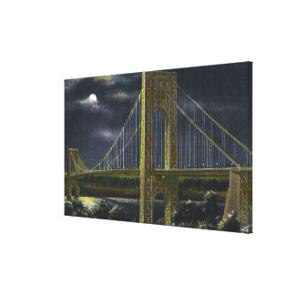 NYC, New YorkGeorge Washington Bridge at Night Canvas Print