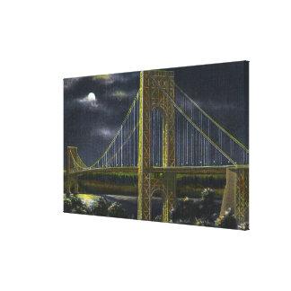 NYC New YorkGeorge Washington Bridge at Night Canvas Print