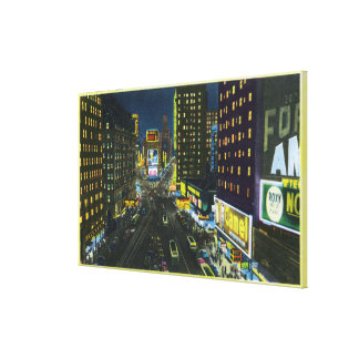 NYC New YorkView of Times Square at Night 1 Gallery Wrapped Canvas