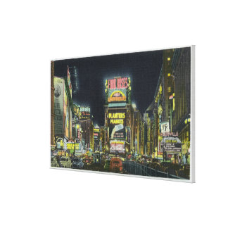 NYC New YorkView of Times Square at Night 2 Stretched Canvas Prints