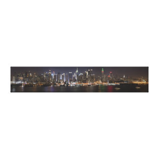 NYC Night Lights Stretched Canvas Print