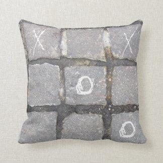 NYC On the Street Pillow-Cobblestone Tic Tac Toe Cushion