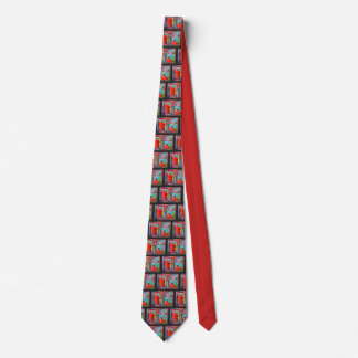 NYC Peter Max style liberties 9-11 tile Tie