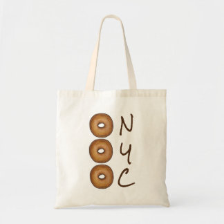 NYC Plain Bagel New York City Deli Foodie Tote
