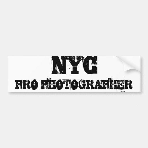 NYC PRO PHOTOGRAPHER Bumper Sticker