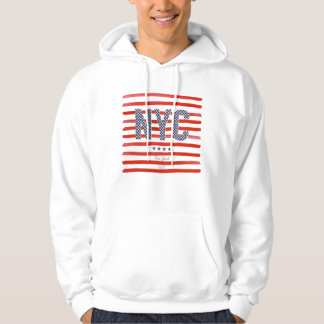 NYC | Red, White & Blue Design Hoodie